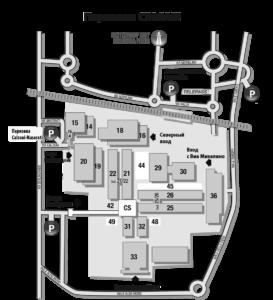 Схема выставки CERSAIE