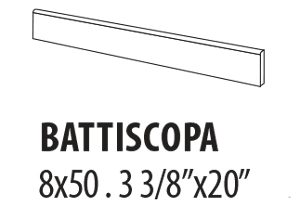 B7L5 BATTISCOPA JASMIN LAP RETT 7,5×46,5