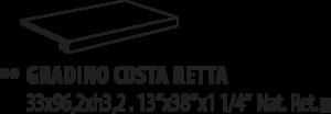 La Fabbrica Thrill Gradino Costa Retta