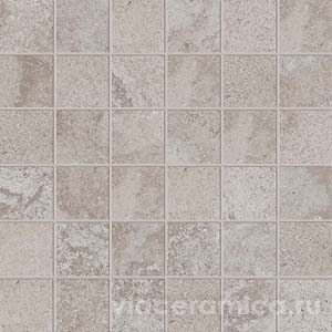 Мозаика на сетке PF6260 ALPES RAW MOS. QUADR. GREY 30X30