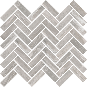 ABK SENSI MOS CHEVRON ARABESQUE SILVER SABLE' 30X30