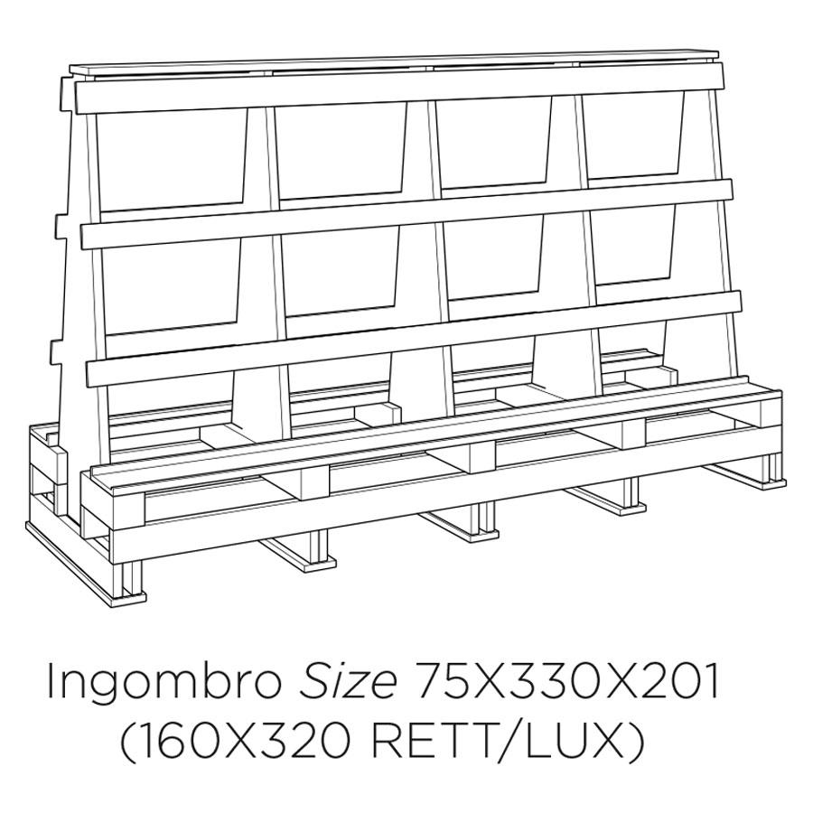 Подставка для контейнерной перевозки плит большого формата ABK Ceramiche