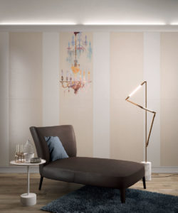 Ariana Canvas cotton + beige + chandelier