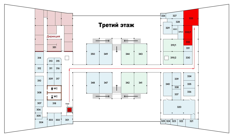 Схема офиса Виа Керамика