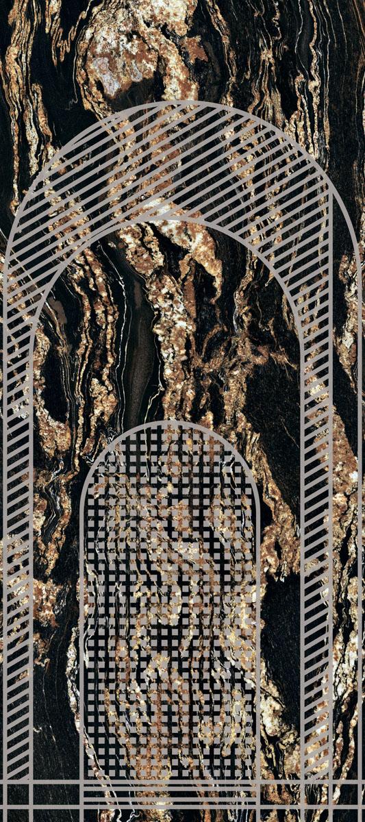 Ariana Nobile DECORO ARCHI BLACK TAURUS 120X270_A